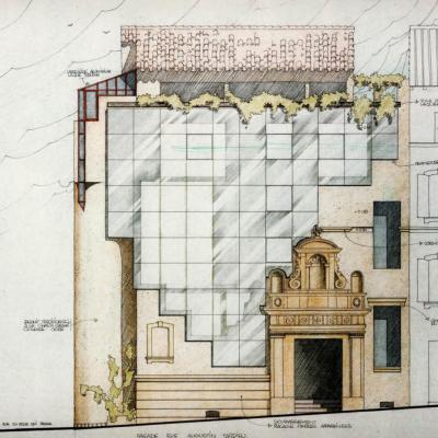 Projet contemporain autour de la porte du XVIII